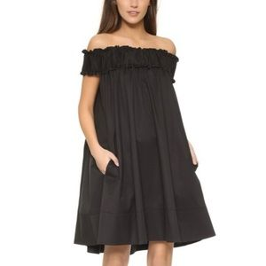 HATCH off the shoulder Audrey swing mini dress O/S